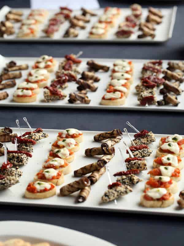 Canapes for corporate event at Liberton Golf Club in Edinburgh Southside